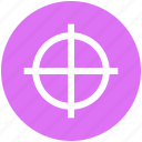 aim, bulls eye, focus, goal, point, scope, target icon