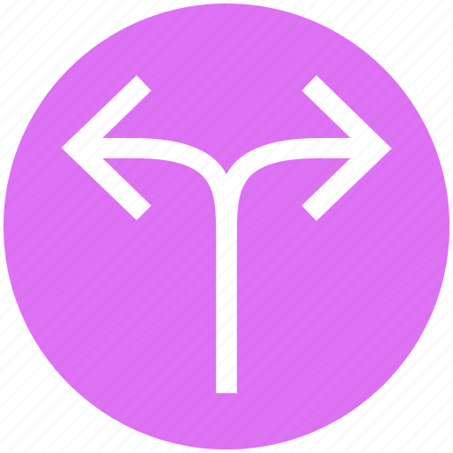 arrows, direction, left right arrows, path, two way icon