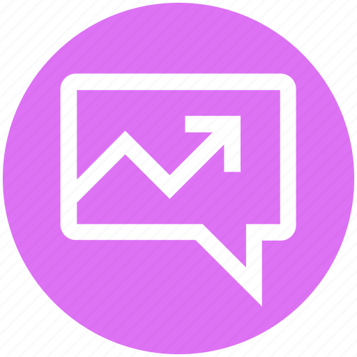 chat, comment, conversation, graph, message, sms, up arrow icon