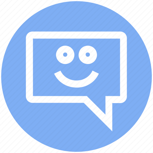 chat, comment, conversation, happy, message, smile, sms icon