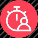alarm, alarm clock, clock, time, user icon