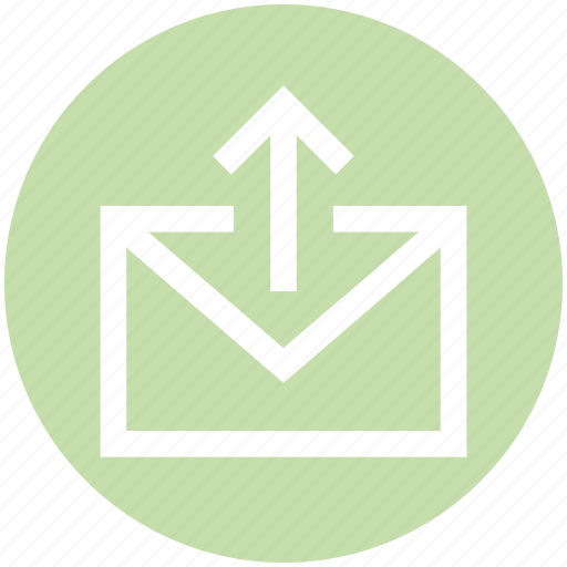 email, envelope, letter, mail, message, send, up arrow icon