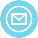 circle, closed, email, envelope, letter, mail, message
