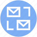 closed, email, envelope, letter, mail, message, sharing icon