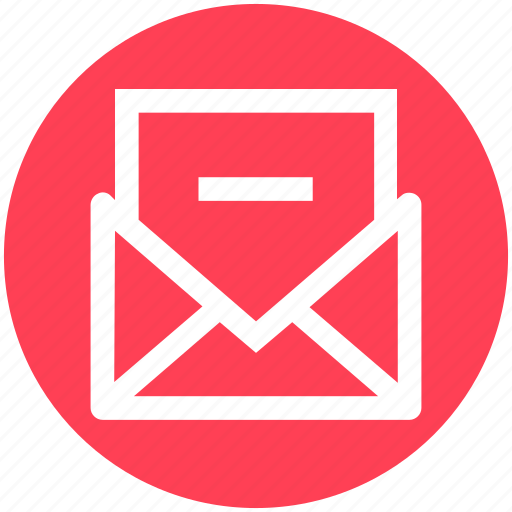 delete, email, envelope, letter, mail, message, minus icon