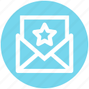 email, envelope, favorite, letter, mail, message, star