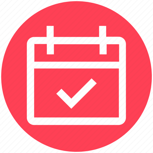 agenda, appointment, calendar, check, date, material, schedule icon