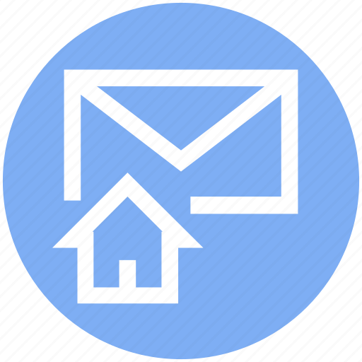 email, envelope, home, house, letter, mail, message icon