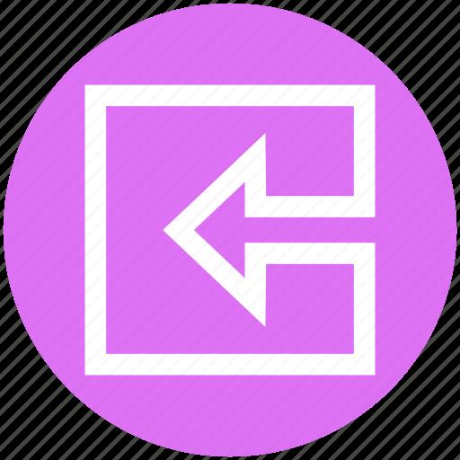 arrow, box, forward, left, left arrow, material, square icon