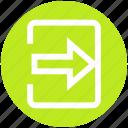 arrow, box, forward, in arrow, material, right, square icon