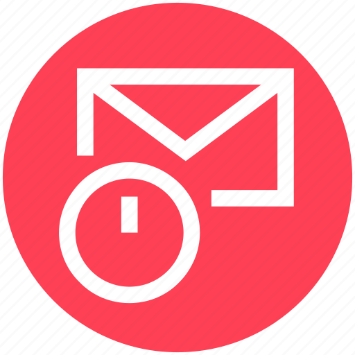 clock, email, envelope, letter, mail, message, time icon