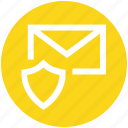 email, envelope, letter, mail, message, secure, shield icon