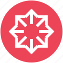arrows, circle, directions icon