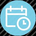 agenda, appointment, calendar, clock, date, schedule, time icon