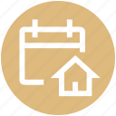 agenda, appointment, calendar, date, home, house, schedule icon