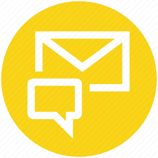 chat, email, envelope, letter, mail, message icon