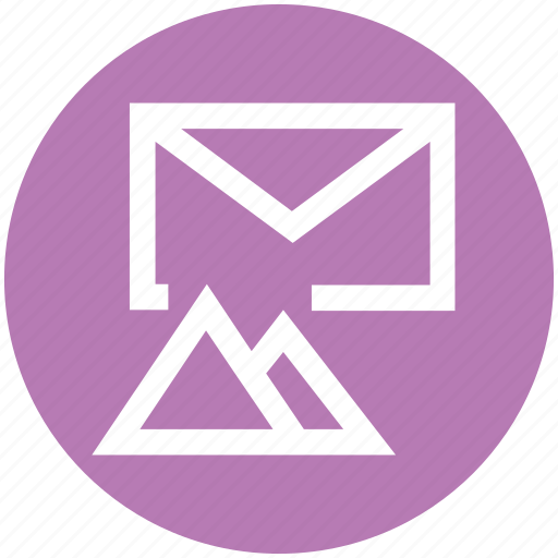 email, envelope, hills, letter, mail, message, mountains icon