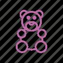bear, child, kid, maternity, puppet, toy