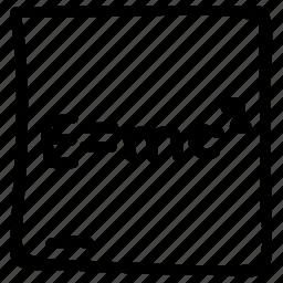einstein's formula, emc, emc2, physics, physics formula, theory icon