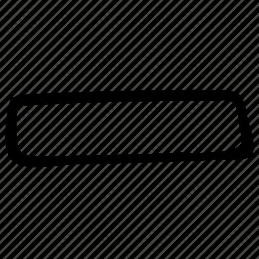 basic math symbol, basic maths, minus sign, subtraction, symbol icon
