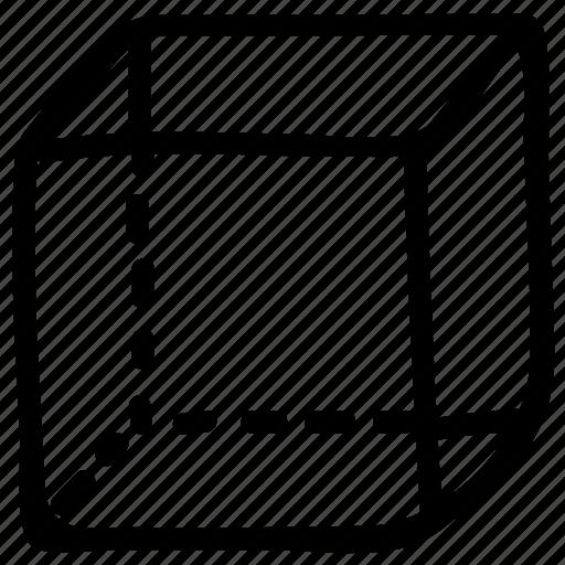 box, cube, draw, drawing, geometric shape, geometry, shape icon