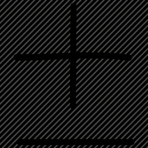 basic math, plus and minus, plus and minus operations, plus-minus, symbols icon