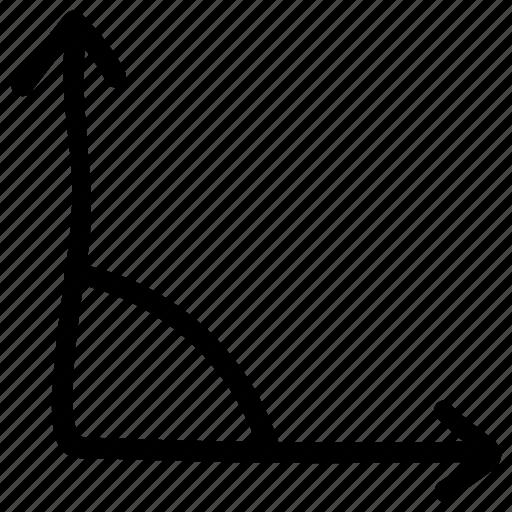 angle, corner, geometry, graph, mathematics, reflex angle, right angle icon