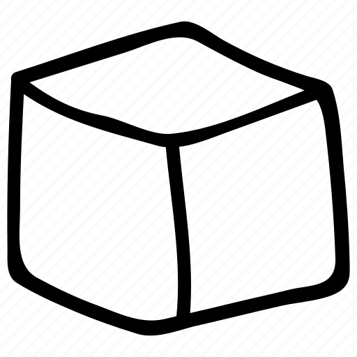box, box shape, cube, cubic shape, square icon