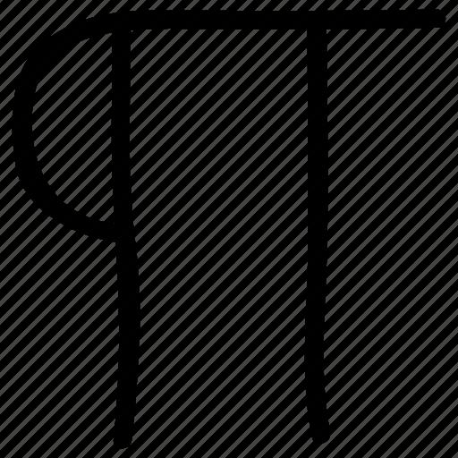 math sign, math symbol, mathematical symbol, pi, pi symbol icon