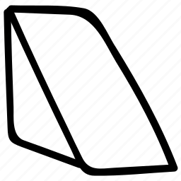 geometrical design, geometrical shape, triangle prism, triangle shape icon