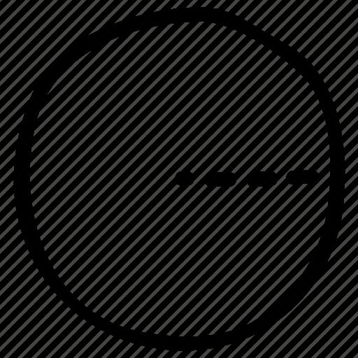 math, math sign, mathematical symbol, mathematics, radius of circle icon