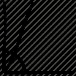 geometrical symbol, geometry symbol, ninety degrees, right angle icon
