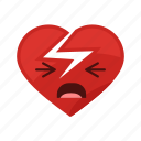 attack, broken, heart, pain, relation, sad, sick icon