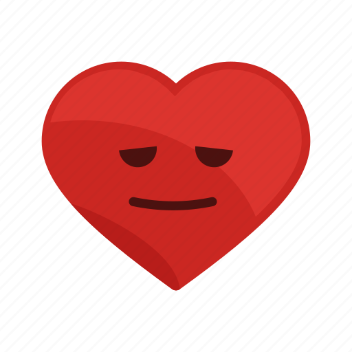 feeling, good, health, heart, mellow, relax, smile icon