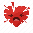 angry, attack, heart, medical, painfull, sick, stress icon
