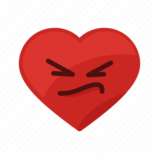 angry, heart, hurt, love, negative, pain, sick icon