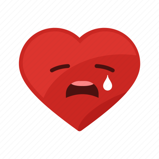 cry, emotion, heart, love, sad, unhappy icon