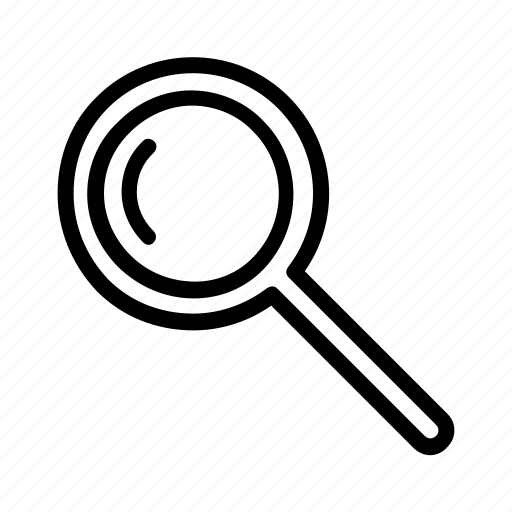 find, magnifying glass, scan, search icon