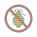 bed, bed bug, bug, dust mite, insect, prohibition, stop icon