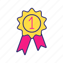 award, best, first, number one, reward, success, winner icon