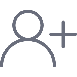 account, add, create, new, profile, user icon