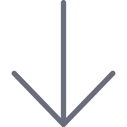 arrow, bottom, direction, down icon