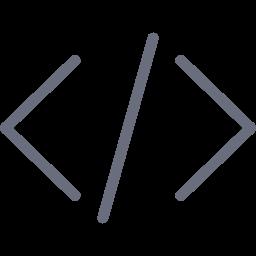 code, coding, dev, development, embed, programming, tag icon