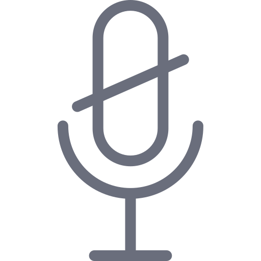 micro, microphone, mute, off, radio icon