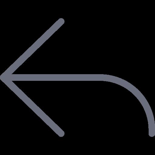 arrow, direction, left, return icon