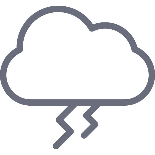 cloud, sky, thunder, weather icon