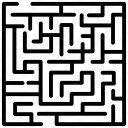 block maze, hedge maze, maze navigation, puzzle, trap maze icon