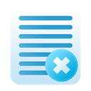 delete, notes icon