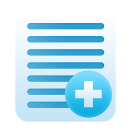 add, document, notes, paper icon