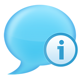 chat, info icon